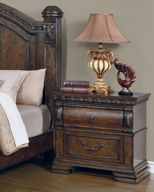 Satterfield 2-drawer Nightstand Warm Bourbon - Hover