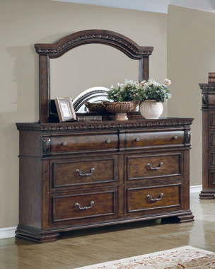 Satterfield 6-drawer Dresser Warm Bourbon - Hover