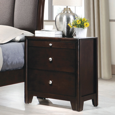 Madison 2-drawer Nightstand Dark Merlot - Hover