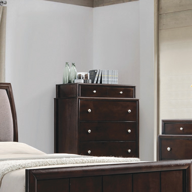 Madison 6-drawer Chest Dark Merlot