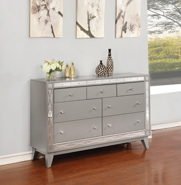 Leighton 7-drawer Dresser Metallic Mercury - Hover