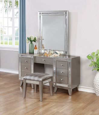 Leighton Vanity Mirror Metallic Mercury - Hover