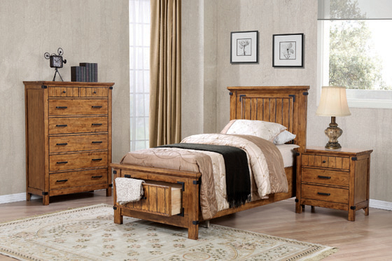 Brenner Twin Storage Bed Rustic Honey - Hover