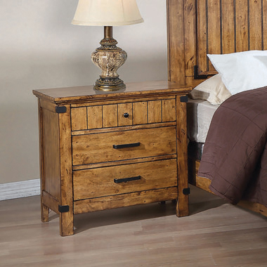 Brenner 3-drawer Night Stand Rustic Honey - Hover