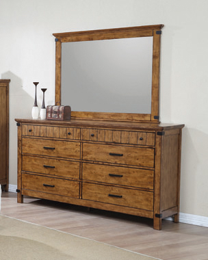 Brenner 8-drawer Dresser Rustic Honey - Hover