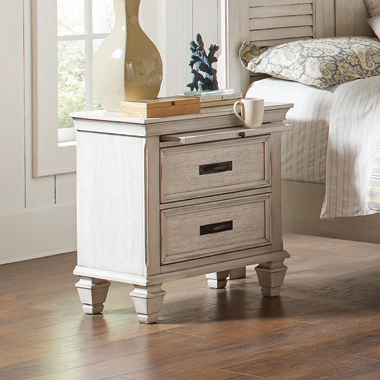 Franco 2-drawer Nightstand Antique White - Hover