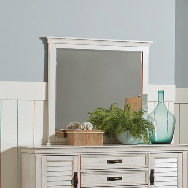 Franco Rectangular Mirror Antique White - Hover