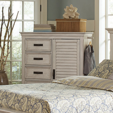 Franco 5-drawer Chest Antique White - Hover