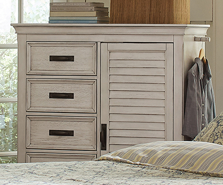 Franco 5-drawer Man's Chest Antique White
