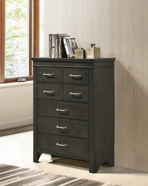 Newberry 7-drawer Chest Bark Wood - Hover