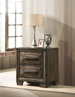 Preston 2-drawer Nightstand Rustic Chestnut - Hover