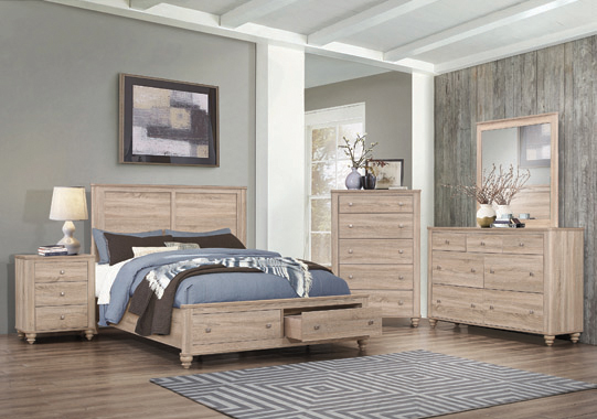 Wenham Full Storage Bed Natural Oak - Hover