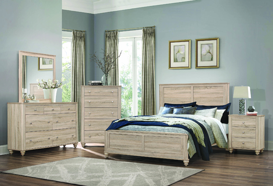 Wenham Queen Panel Bed Natural Oak - Hover
