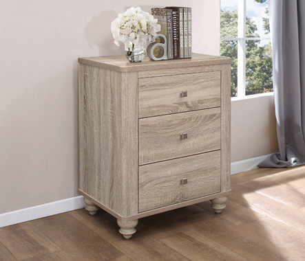 Wenham 3-drawer Nightstand Natural Oak - Hover