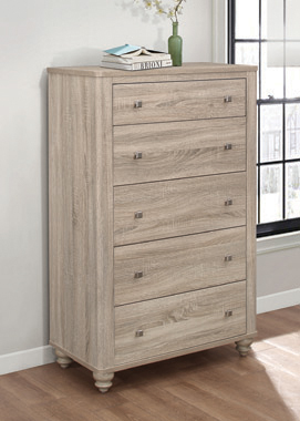 Wenham 5-drawer Chest Natural Oak - Hover