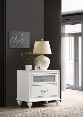 Barzini 2-drawer Nightstand White - Hover