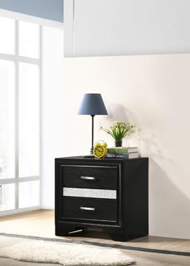Miranda 2-drawer Nightstand Tray Black - Hover