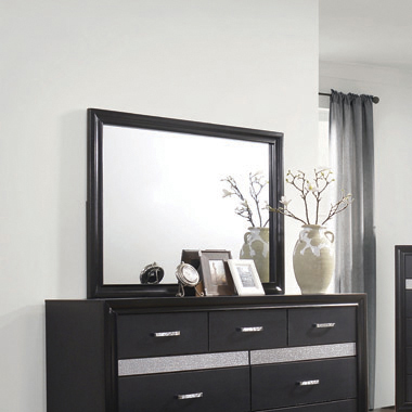 Miranda Rectangular Mirror Black - Hover