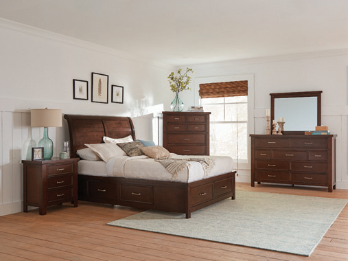 Barstow   Storage Bedroom Set Pinot Noir