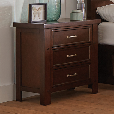 Barstow 3-drawer Rectangular Nightstand Pinot Noir - Hover