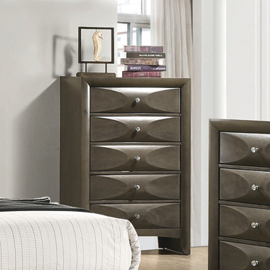 Salano 5-drawer Rectangular Chest Mod Grey - Hover
