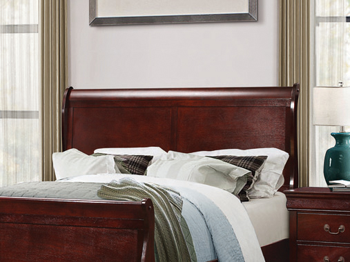 Louis Philippe Full Sleigh Headboard Cherry