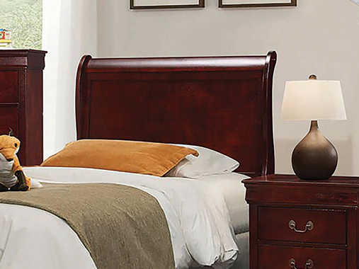 Louis Philippe Twin Sleigh Headboard Cherry
