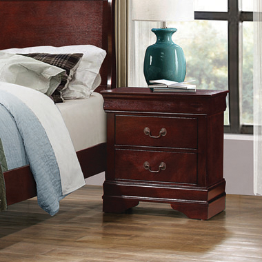 Louis Philippe 2-drawer Nightstand Cherry - Hover