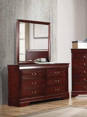 Louis Philippe 6-drawer Dresser Cherry - Hover