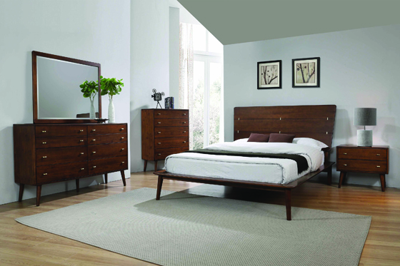 Wenham Eastern King Platform Bed Burnt Sugar - Hover