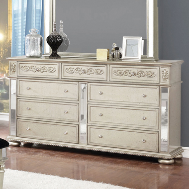 Heidi 9-drawer Dresser Metallic Platinum - Hover