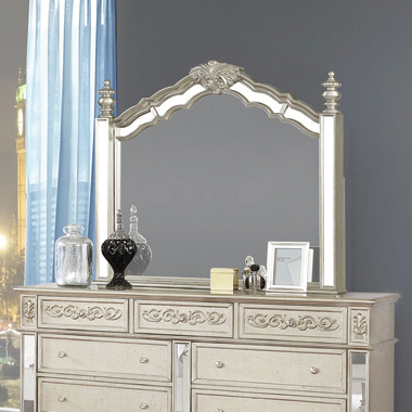 Heidi Arched Mirror Metallic Platinum - Hover