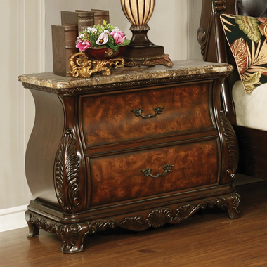 Exeter 2-drawer Nightstand Dark Burl - Hover