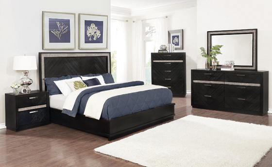 Chula Vista   Panel Bedroom Set Caviar