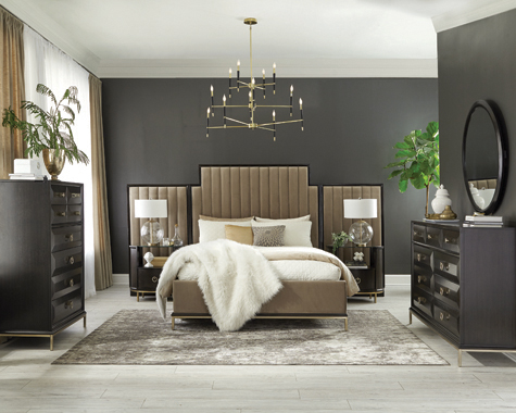 Formosa   Platform Bedroom Set with Oval Nightstand Camel - Hover