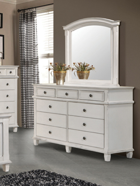 Carolina 9-drawer Dresser Antique White - Hover