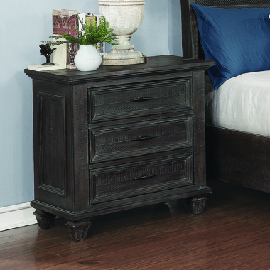 Atascadero 3-drawer Nightstand Weathered Carbon - Hover