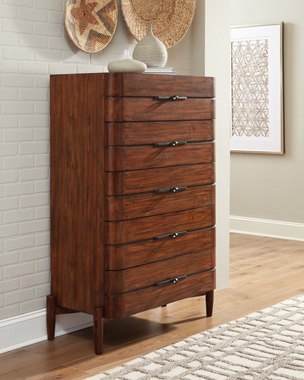 San Mateo 5-drawer Chest Desert Teak - Hover