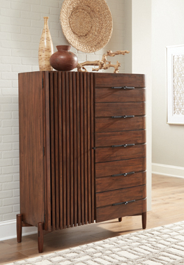 San Mateo 5-drawer Door Chest Desert Teak - Hover