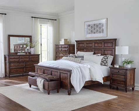 Avenue Queen Panel Bed Weathered Burnished Brown - Hover