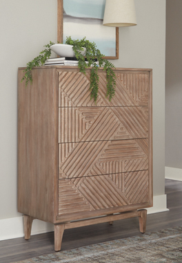 Vanowen 4-drawer Chest Sandstone - Hover