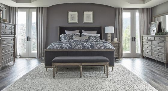 Alderwood 5-piece California King Bedroom Set French Grey