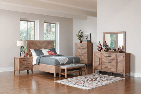 Tawny California King Panel Bed White Washed Natural - Hover