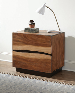 Winslow 2-drawer Nightstand Smokey Walnut and Coffee Bean - Hover