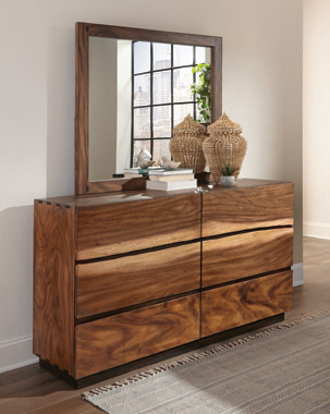 Winslow 6-drawer Dresser Smokey Walnut and Coffee Bean - Hover
