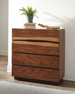 Winslow 4-drawer Chest Smokey Walnut and Coffee Bean - Hover