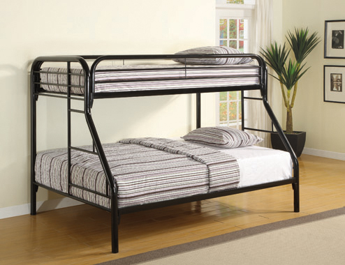 Morgan Twin over Full Bunk Bed Black - Hover
