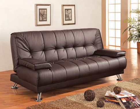 Pierre Tufted Upholstered Sofa Bed Brown - Hover