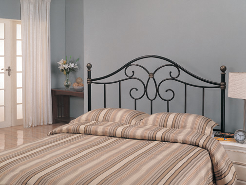 Full/Queen Metal Headboard Black and Bronze