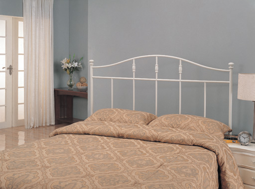 Full/Queen Metal Arched Headboard White